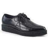 Piel 3 cm CREEPER-712 Zapatos de Creepers Hombres Plataforma