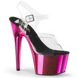 Pink 18 cm ADORE-708 Cromo Plataforma Tacones Altos