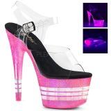 Pink 18 cm ADORE-708UVLN Sandalias Mujer Plataforma Neon