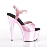 Pink 18 cm ADORE-709HGCH Holograma plataforma sandalias de tacón alto