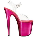 Pink 20 cm FLAMINGO-808 Cromo Plataforma Tacones Altos