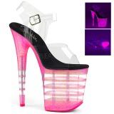 Pink 20 cm FLAMINGO-808UVLN Sandalias Mujer Plataforma Neon