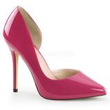 Pink Charol 13 cm AMUSE-22 Zapato Salón Clasico para Mujer