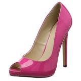 Pink Charol 13 cm SEXY-42 Zapato Salón Clasico para Mujer