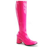 Pink Neon 8,5 cm FUNTASMA GOGO-300UV Women Knee Boots