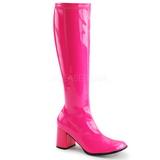 Pink Neon 8,5 cm FUNTASMA GOGO-300UV Women Knee Boots