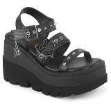 Plata 11,5 cm CELESTE-09 sandalias con tacón bloque y plataforma glitter