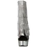 Plata 15 cm DELIGHT-1017RSF botines con flecos de mujer tacón altos