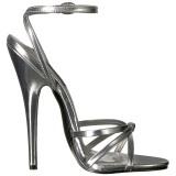 Plata 15 cm DOMINA-108 zapatos fetiche con tacones altos