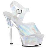 Plata 15 cm KISS-208N-CRHM Holograma plataforma sandalias de tacón alto