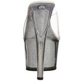 Plata 18 cm ADORE-701G Brillo Plataforma Mules Altos