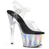 Plata 18 cm ADORE-708HGI Holograma plataforma sandalias de tacón alto