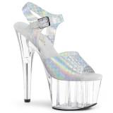 Plata 18 cm ADORE-708N-MS Zapatos plataforma con tacones glitter
