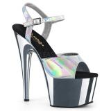 Plata 18 cm ADORE-709HGCH Holograma plataforma sandalias de tacón alto