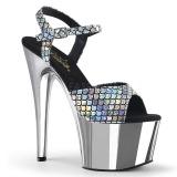 Plata 18 cm ADORE-709MSC Holograma plataforma sandalias de tacón alto
