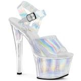 Plata 18 cm SKY-308N-CRHM Holograma plataforma sandalias de tacón alto