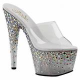 Plata 18 cm STARSPLASH-701 Estrella Plataforma Zapatos Estilo Mules