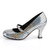 Plata 7,5 cm MERMAID-70 zapatos de salón tacón bajo