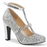 Plata Brillo 10 cm QUEEN-01 zapatos de salón tallas grandes