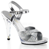 Plata Brillo 12 cm FLAIR-419G Tacones Altos para Hombres