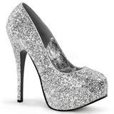 Plata Brillo 14,5 cm Burlesque BORDELLO TEEZE-06G Plataforma Zapatos de Salón