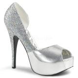 Plata Brillo 14,5 cm Burlesque TEEZE-41W zapatos de salón pies anchos hombre