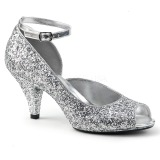 Plata Brillo 7,5 cm BELLE-381G Zapatos de Salón para Hombres