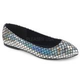 Plata MERMAID-21 bailarinas zapatos planos mujer