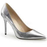 Plata Mate 10 cm CLASSIQUE-20 Stiletto Zapatos Tacon de Aguja