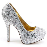 Plata Piedras Brillantes 13,5 cm FELICITY-20 Zapatos de tacón altos mujer