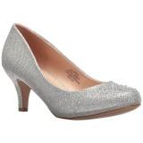 Plata Piedras Cristal 6,5 cm DORIS-06 Zapatos Salón Fiesta con Tacón