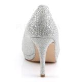 Plata Piedras Cristal 9 cm COVET-02 Zapatos Salón Fiesta con Tacón