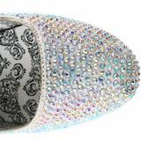 Plata Piedras Strass 14,5 cm Burlesque TEEZE-06R Plataforma Zapato Salón