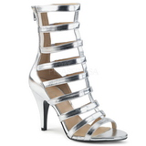 Plata Polipiel 10 cm DREAM-438 botines tallas grandes