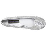 Plata STAR-16G brillo zapatos de bailarinas mujer planos