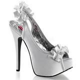 Plata Satinado 14,5 cm Burlesque TEEZE-56 Zapatos de Tacón Alto