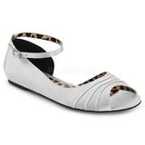 Plata Satinado ANNA-03 zapatos de bailarinas tallas grandes