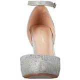 Plata Strass 9 cm COVET-03 Zapato Salón Clasico para Mujer