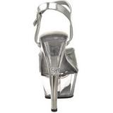 Plata Transparente 15 cm KISS-209 Plataforma tacones altos