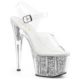 Plata purpurina 18 cm Pleaser ADORE-708G Zapatos con tacones pole dance