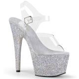 Plata purpurina 18 cm Pleaser ADORE-708HMG Zapatos con tacones pole dance