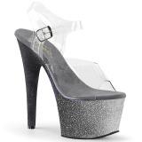 Plata purpurina 18 cm Pleaser ADORE-708OMBRE Zapatos con tacones pole dance
