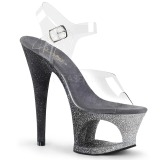 Plata purpurina 18 cm Pleaser MOON-708OMBRE Zapatos con tacones pole dance