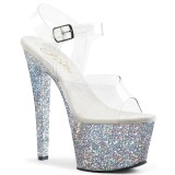 Plata purpurina 18 cm Pleaser SKY-308LG Zapatos con tacones pole dance