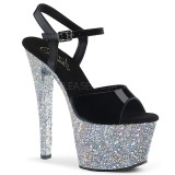 Plata purpurina 18 cm Pleaser SKY-309LG Zapatos con tacones pole dance