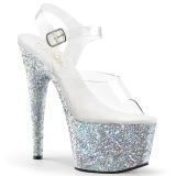 Plata purpurina plataforma 18 cm ADORE-708LG zapatos para pole dance y striptease