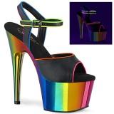Plataforma arco iris 18 cm ADORE-709RC-02 Zapatos de pole dance