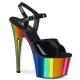 Plataforma arco iris 18 cm ADORE-709RC Zapatos de pole dance