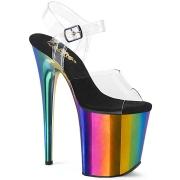 Plataforma arco iris 20 cm FLAMINGO-808RC Zapatos de pole dance