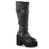 Polipiel 12 cm ASSAULT-203 plataforma botas de mujer con hebillas